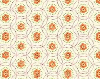 Half Yard This 'N That - Star Catcher in Mango - Cotton Quilt Fabric - Designed by Nancy Halvorsen for Benartex (W1667)