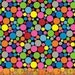 Fat Quarter .Com or Dot Com - Mini Packed Dot in Black  - Polka Dot Cotton Quilt Fabric - by Whistler Studios for Windham Fabrics (W1246)