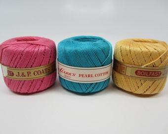 Vintage Pearl Cotton Size 5 Set of 3