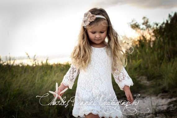 Chloe flower girl dress ivory flower girl dress girls lace dress lace dress toddler lace dress boho flower girl dress flower girl dress lace