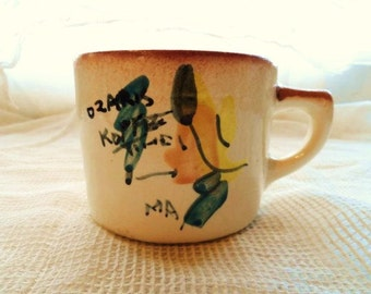Handmade OZARK KOFFEE TiME- Off YouR BuTT BaCK to WoRK- Country- Red Neck- Hillbilly HumoR- Souvenir Coffee Cup-Old Time Ozark Hills Huimor