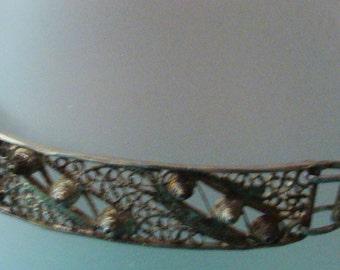 Antique silver filigree bracelet