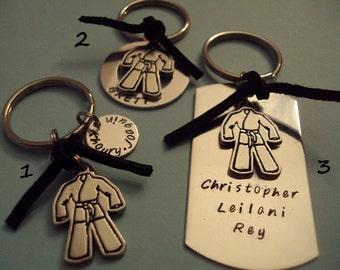 Karate / Taekwondo keychain - choose the blank