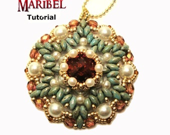 Tutorial Maribel Pendant - beading pattern