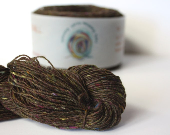 Spinning Yarns Weaving Tales - Tirchonaill 502 Tapenade 100% Merino for Knitting, Crochet, Warp & Weft