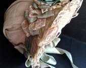"""Antique Reproduction straw hat for dolls. 10"""" head."""