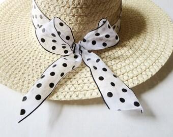 Sun hat - Summer-Women's Wide Brim - Bow hat - Beach- Pool hat