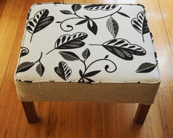 Upcycled Vintage Footstool