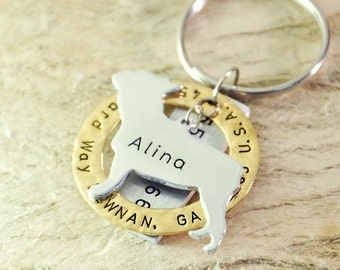 French Bull dog tag personalized  dog tag 3 piece Pet tag Pet Id Tag Hand stamped  custom Made with your Pets Name/phone number
