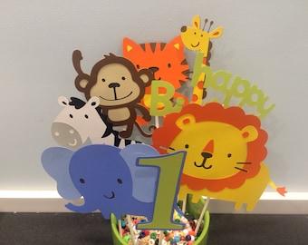 8 Piece Zoo or Jungle Themed Centerpiece