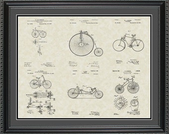Bicycles Patent Collection Bicyclist Biker Gift PBIKE2024