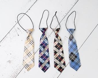 Plaid Boys Tie, Birthday Photo Prop, Boys Tie, Newborn, Toddler, First Birthday, Boys Necktie, Neck Tie