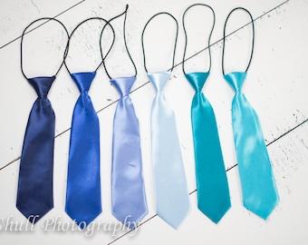 Blue Boys Tie, Boys Tie Birthday Photo Prop, Blue Ring Bearer Wedding, Boys Tie, Newborn, Toddler, First Birthday, Boys Necktie, Neck Tie