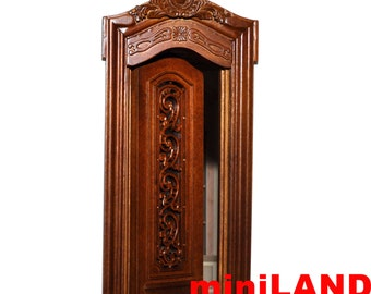 Carved Single Door 1:12 scale Fine quality dollhouse miniature wood