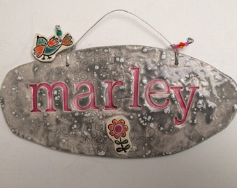 Ceramic Name Plaque