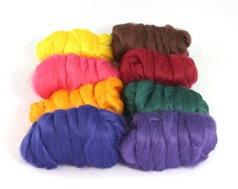 Bamboo Mixed Bag Top / Roving 200g/7oz - Spinning Fibre / Fiber - Felting