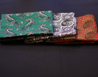 "3 typical mexican shawls/scarfs/ ""paliacates"" package (green, white and red)"
