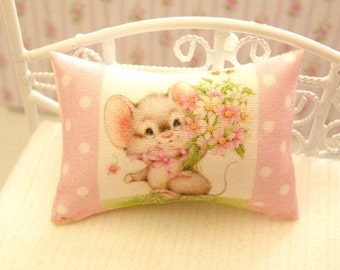 dollhouse  shabby chic miniatures pillow