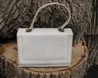 Vintage  Handbag - White Handbag