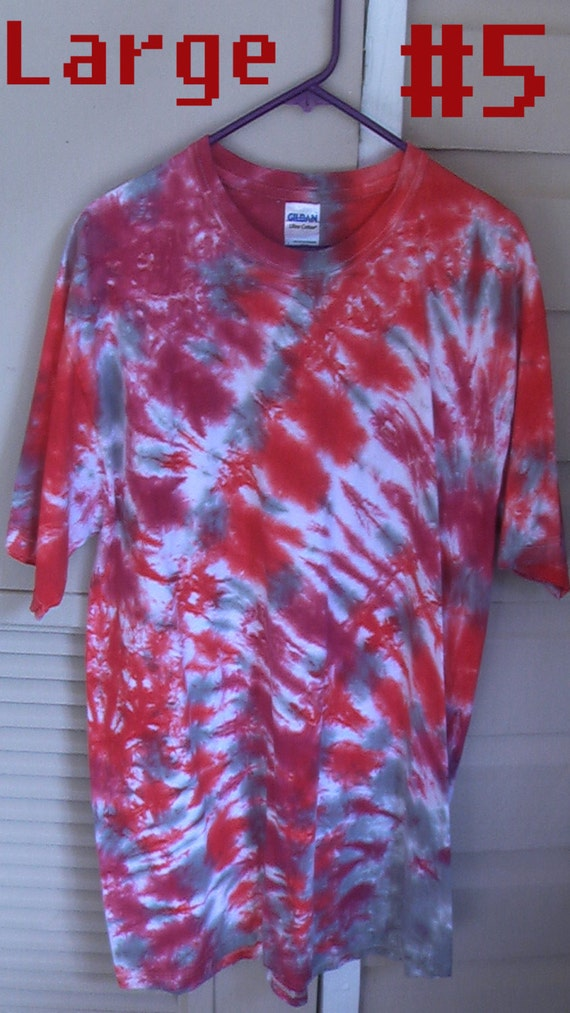 5 different styles to choose from tie dye shirts by ill