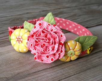 Flower headband pdf tutoria,l Birthday headband pdf sewing, Roses headband pdf, Pdf sewing roses headband, Roses headband wedding pdf