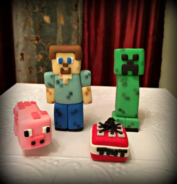 Minecraft Cake Topper Set