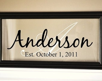 Glass Personalized Family Sign