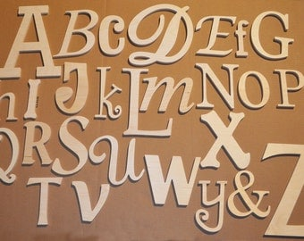 DISCOUNTED Random alphabet set Unfinished wooden letters wall decor - A through Z