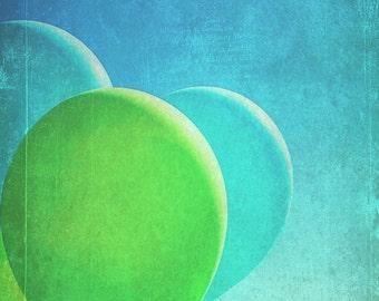 Balloons Fine Art Photography Print, Vintage Balloon Photo, Still Life Photography, Blue Sky, Nursery Decor