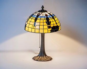 Stained Glass Lamp. Table lamp.Tiffany technique. Home decor. Handmade in Poland, EU.