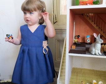 Blue and Plaid IRELAND Dress -  Reversible