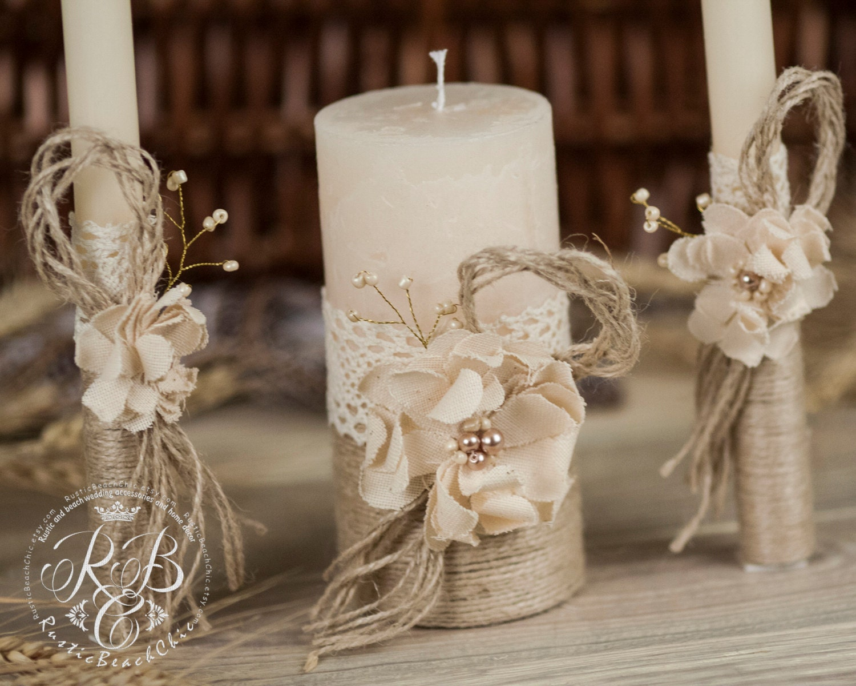Personalized Wedding Candle Unity Ceremony Pillar Candle