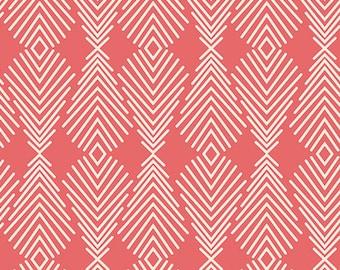 Modern Fabric, Art Gallery Fabric, Bonnie Christine Fabric, Winged Fabric, Plumage Poppy, Modern Quilt Fabric, QuiltFabric, Fabric by Yard