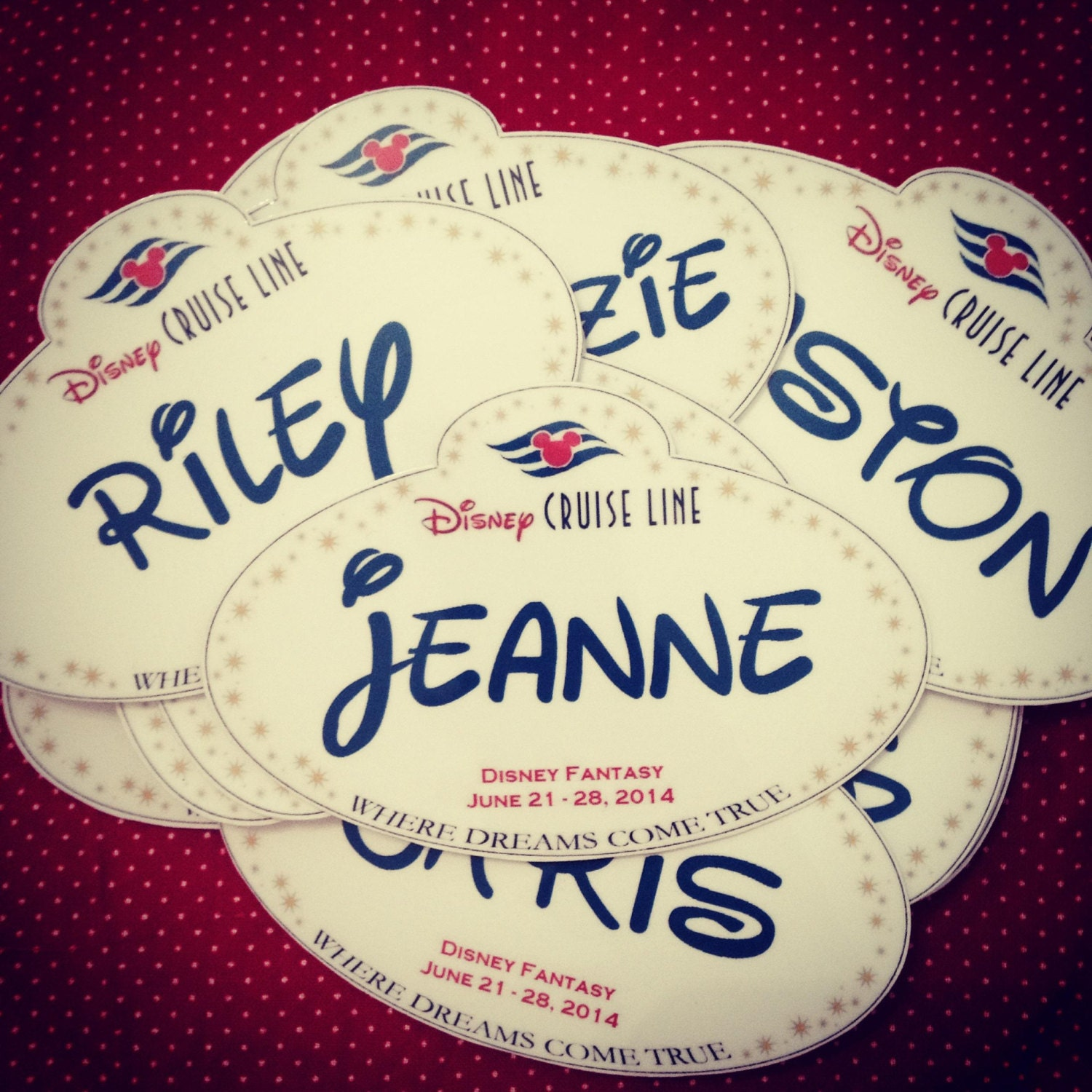 Disney cruise personalized name tag magnets fish extender for Disney fish names