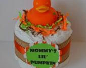 Pumpkin mini diaper cake-Autumn baby-Gender Neutral Baby gift-Halloween-Thanksgiving