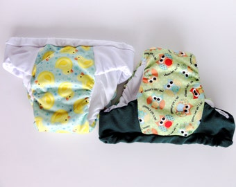 unisex Owl and Duck duo pack waterproof potty training pants,  Eco friendly overnight pull ups, outdoor training underwear