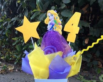 Princess Rapunzel Birthday CenterPiece