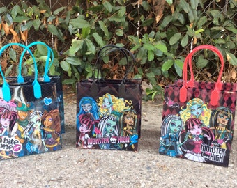 12 Monster High  -Birthday Party Favor Bags