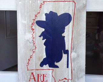 Ole Miss Colonel Reb Not forgotten Pallet sign