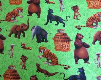 "1/2 yard of 100% cotton ""Jungle Book"" Fabric"