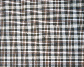 "1/2 yard of 100% cotton ""Beige plaid"" fabric"