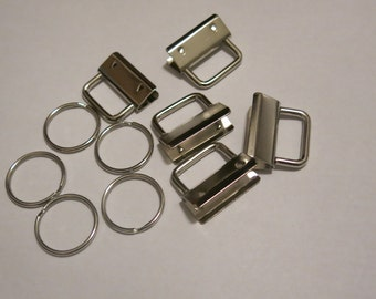 10pc set for 1.25 inch key fob hardware (32mm)