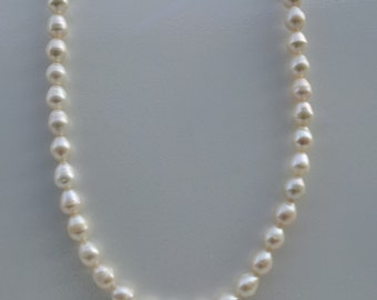 Handmade necklace with real fresh water pearl  #00N18