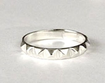 Sterling Silver Pyramid Ring