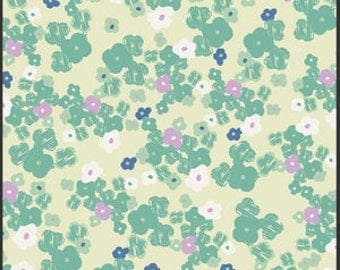 Change Mat Cover - Love notes in Mint Pretty Floral lilac - IN STOCK