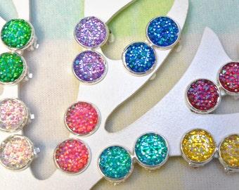 Girls clip on earrings - Sparkley