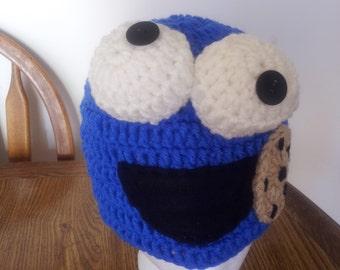 sesame street character hand made crochet beanie