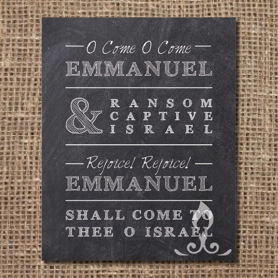 Hymn Print: O Come O Come Emmanuel