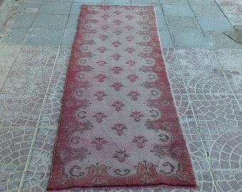 Turkish Vintage  Over Dyed    rug 83x28