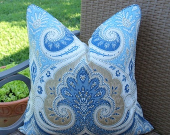 BOTH SIDES - ONE Kravet Latika Delta Pillow Cover with Seam Cording